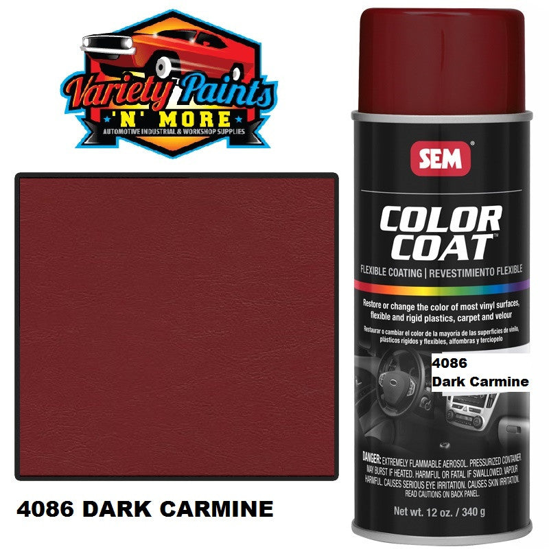 4086 Dark Carmine SEM Colourcoat Vinyl Aerosol 300 grams