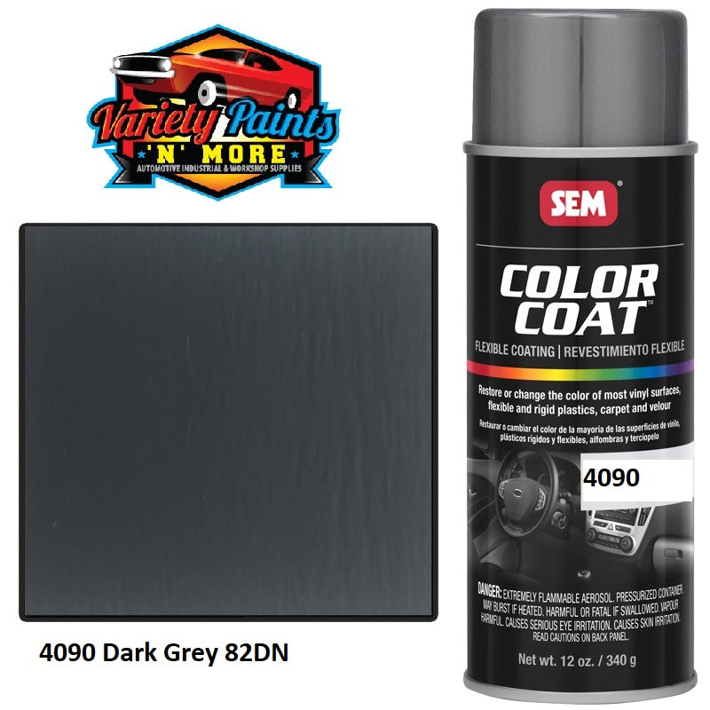 4090V1  Dark Grey #1 SEM Colourcoat Vinyl Aerosol 300 Grams