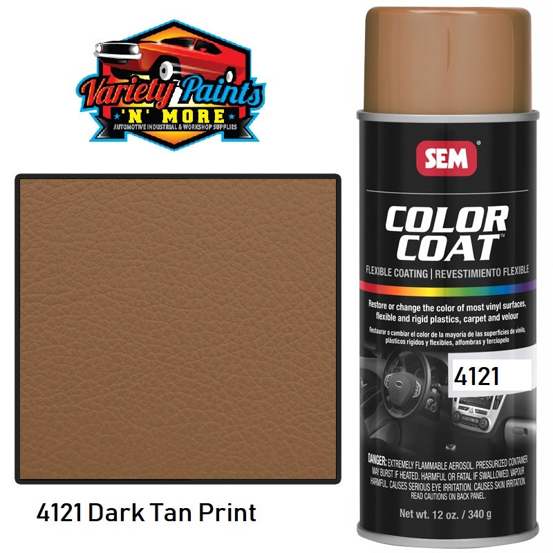 4121 SEM Dark Tan Print Colourcoat Vinyl Aerosol 300 Grams
