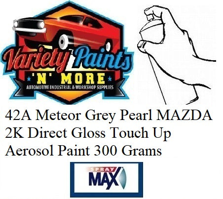 42A Meteor Grey Pearl MAZDA 2K Direct Gloss Touch Up Aerosol Paint 300 Grams