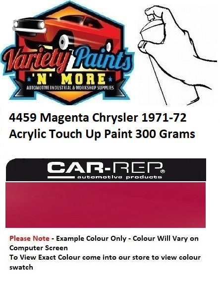 4459 Magenta Chrysler 1971-72 Acrylic Touch Up Paint 300 Grams