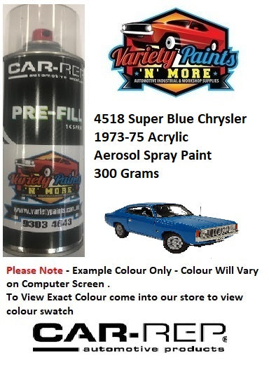 4518 Super Blue Chrysler 1973-75 Acrylic Aerosol Spray Paint 300 Grams