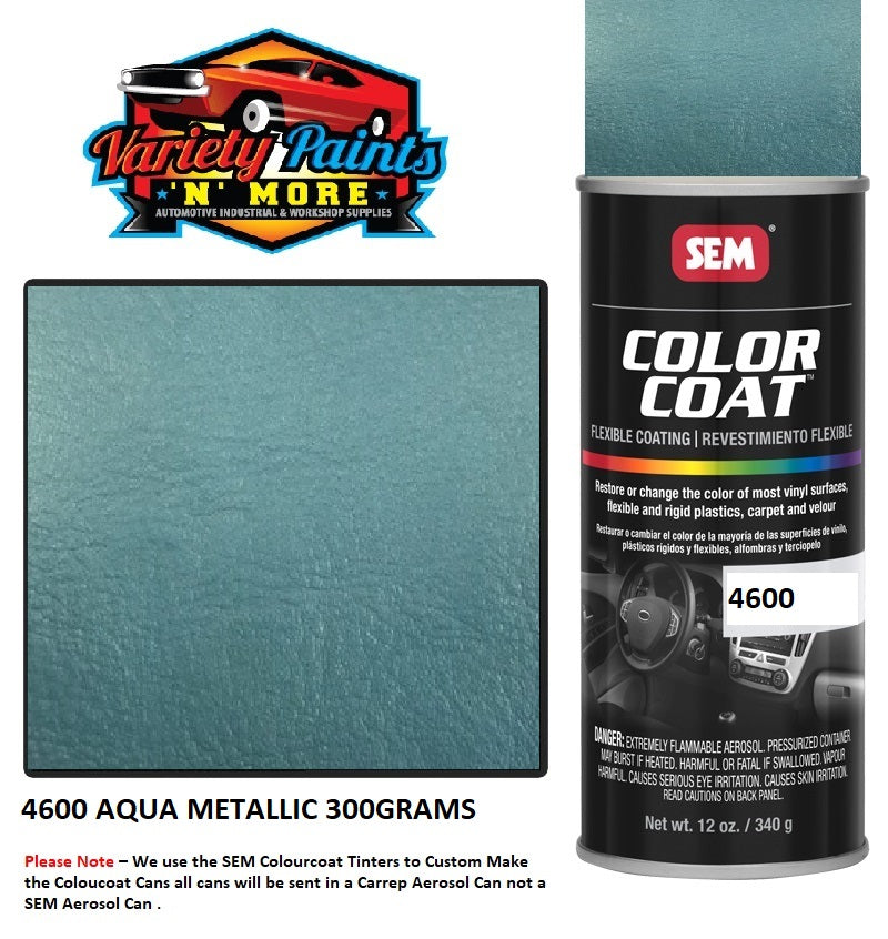 4600 Aqua SEM Colourcoat Vinyl Aerosol 300 Grams