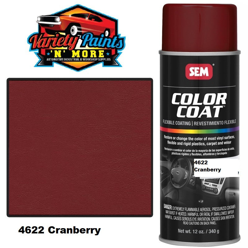 SEM Cranberry Colourcoat Vinyl Aerosol 300 grams
