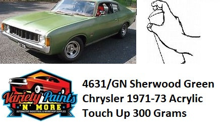 GT/4785 Frost Green Metallic  Chrysler 1975-77 BASECOAT Touch Up Paint 300 Grams