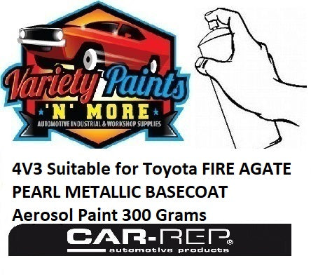 4V3 Suitable for Toyota FIRE AGATE PEARL METALLIC BASECOAT Aerosol Paint 300 Grams