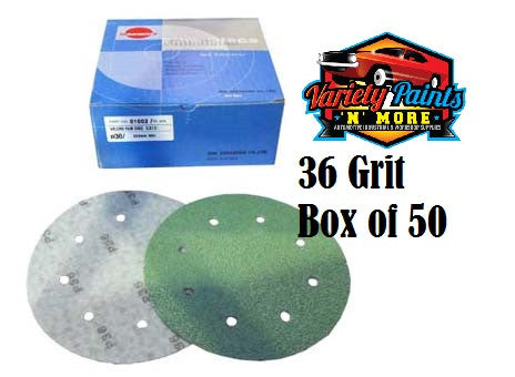 Sunmight 36 Grit 203mm Speedfile Velcro Discs 8 Hole BOX OF 50