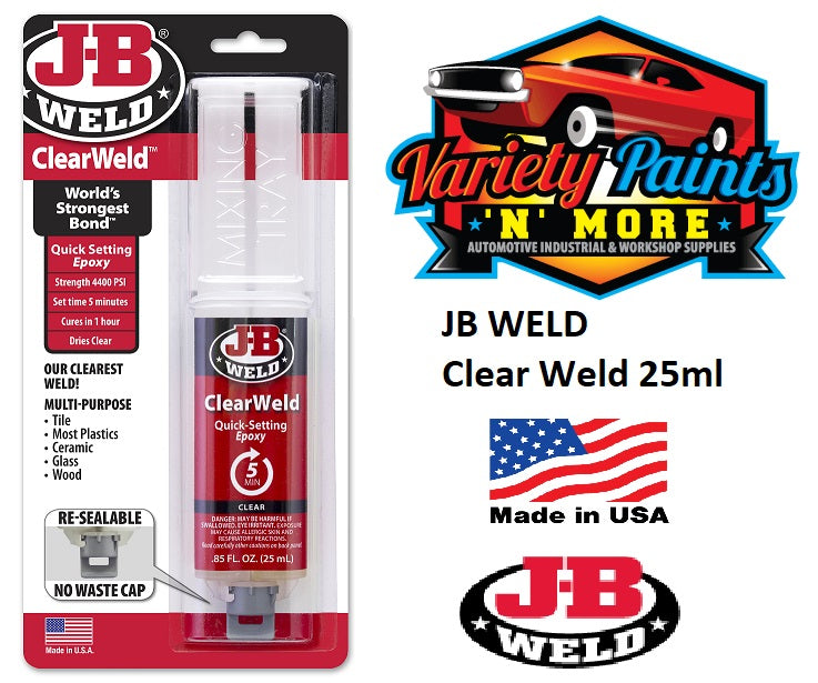 JB WELD Clear Weld 25ml