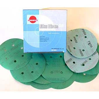 Sunmight 1500 Grit Velcro Film Disc 6H 150MM  Box of 100 Discs