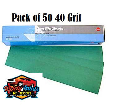 Sunmight 40 Grit Speedfile Sheets Pack of 50
