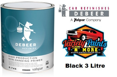 Debeers BLACK High Production Non Sanding Primer 8-746 3 Litre