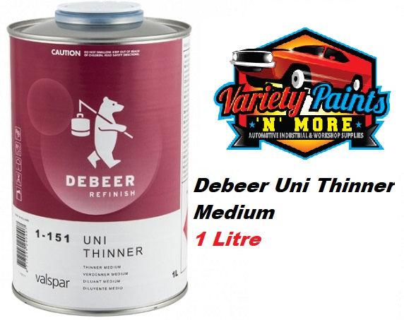 Debeers 2K Uni Thinner Medium 1 Litre 1-151