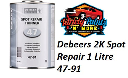 Debeers 2K Spot Repair 1 Litre 47-91 Blending Thinner