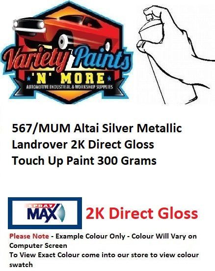 567/MUM Altai Silver Metallic Landrover 2K Direct Gloss Touch Up Paint 300 Grams