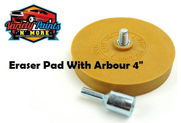 "GRP Eraser Pad With Arbour 4""With Arbour: 100mm"