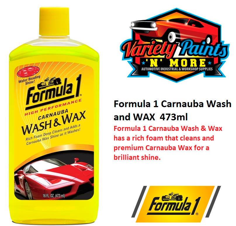 Formula 1 Carnauba Wash and WAX  473ml