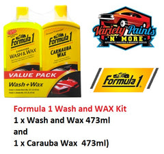 Formula 1 Wash and WAX Kit (1 x Wash and Wax 473ml and 1 x Carauba Wax  473ml)