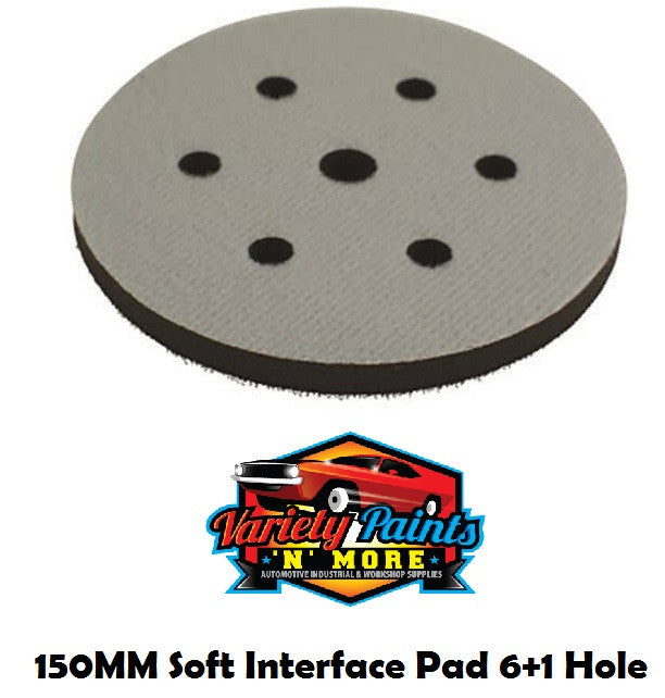 GRP Interface Pad 6 Hole Velcro 150MM (6 Inch) 6+1 Hole