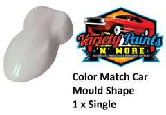 Color Match Car Mold Shapes SINGLE WHITE