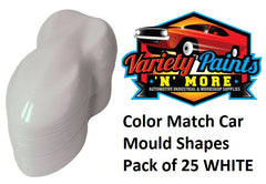 Color Match Car Mold Shapes Pack of 25 WHITE