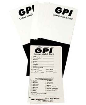 GPI 20 Pack Customer Detailed Record Colour Card