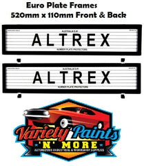 Altrex Number Plate Surrounds 6LE EURO With Lines