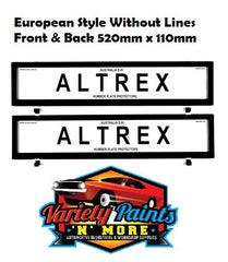 Altrex Number Plate Surrounds 6NLE EURO No Lines