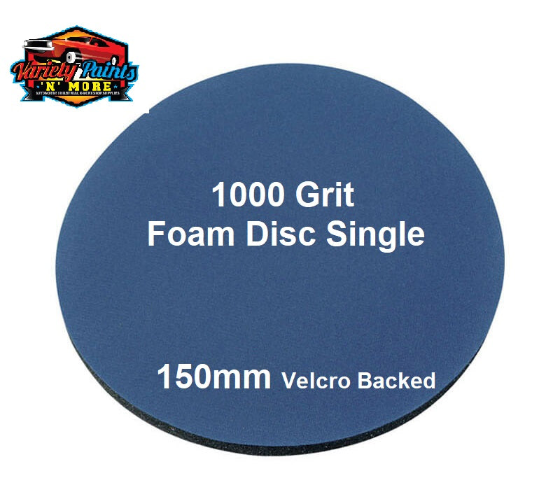 Smirdex 1000 Grit SINGLE Foam Matt Disc 150mm