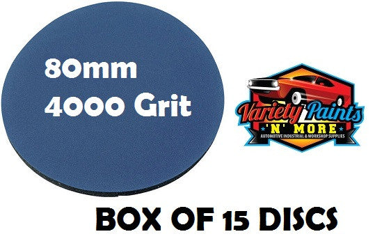 Smirdex  4000 Grit PACK OF 15 Foam Matt Discs 80mm