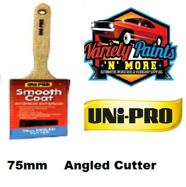 Unipro Smooth Coat Angled Cutter Paint Brush 75mm