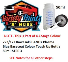 723/172 Kawasaki CANDY Plasma Blue Basecoat Colour Touch Up Bottle 50ml
