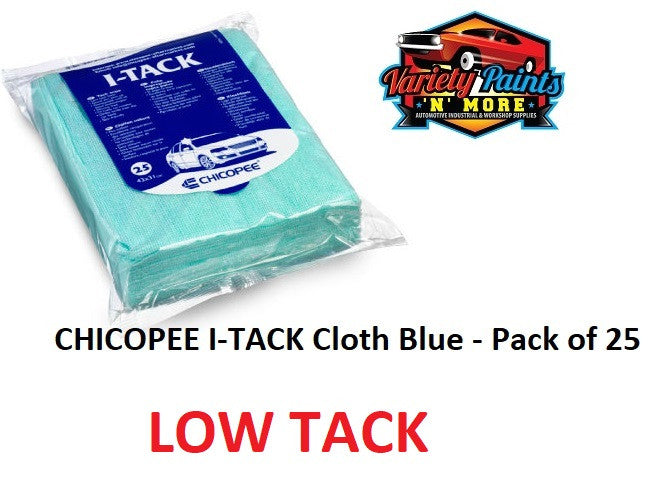 CHICOPEE I-TACK Cloth Blue - Low Tack Pack of 25