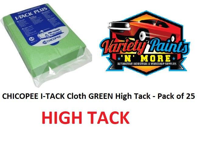 CHICOPEE I-TACK Cloth GREEN High Tack - Pack of 25