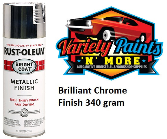 RustOLeum Stops Rust Bright Coat Metallic Finish Chrome 340 gram