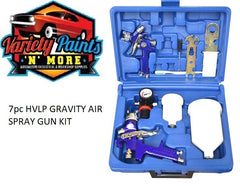 7pc HVLP GRAVITY AIR SPRAY GUN KIT (600ml Gun & Mini Gun ) 2 Gun KIT