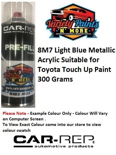 8M7 Light Blue Metallic Acrylic Suitable for Toyota Touch Up Paint 300 Grams