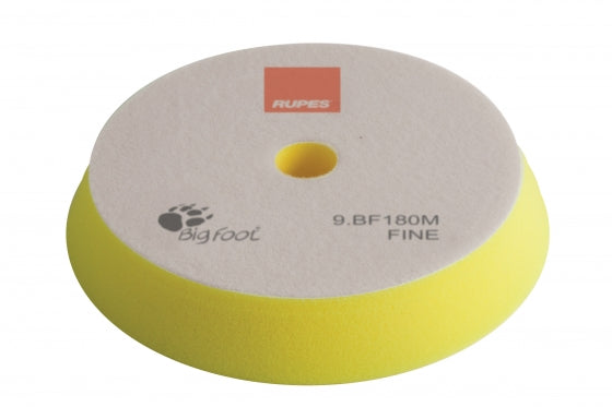 Rupes Bigfoot Velcro YELLOW FINE Polishing Foam Pad 150/180MM 2PK