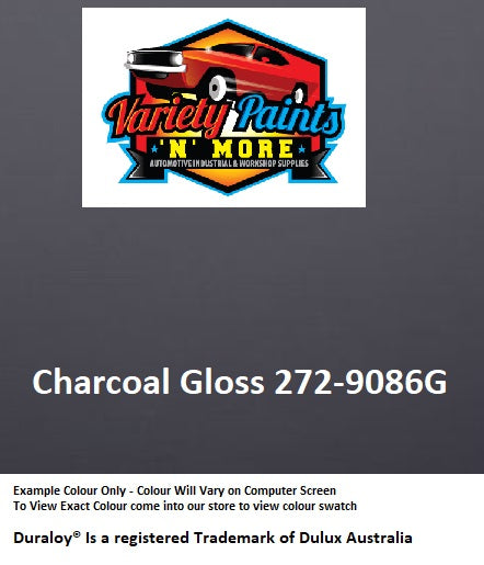 Charcoal Gloss 272-9086G Powdercoat Spray Paint 300g