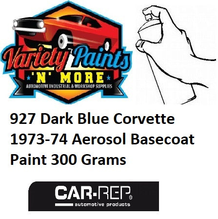 927 Dark Blue Corvette 1973-74 Aerosol Basecoat Paint 300 Grams