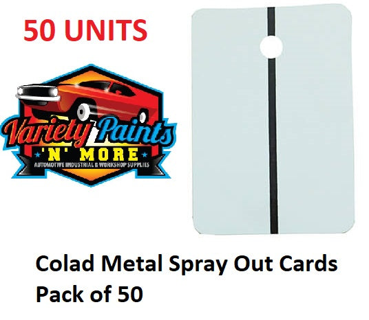 Colad Metal Spray Out Cards Pack of 50