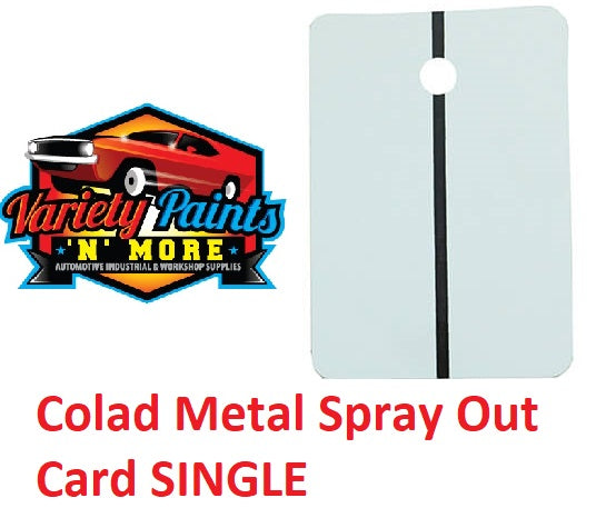 Colad Metal Spray Out Card Single