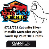 9723/723 Cubanite Silver Metallic Mercedes Acrylic Touch Up Paint 300 Grams