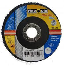 Flexovit Flap Disc 100mm x 40 Grit