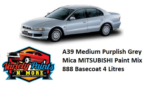 A39 Medium Purplish Grey Mica MITSUBISHI Paint Mix 888 Basecoat 4 Litres