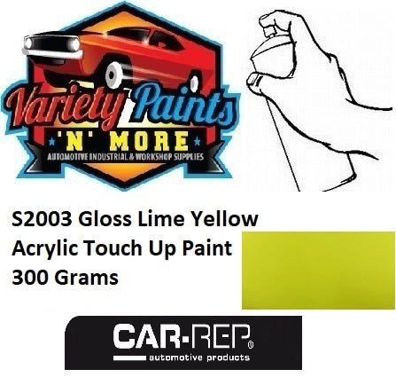 S2003 Gloss Lime Yellow Acrylic Touch Up Paint 300 Grams