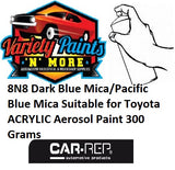8N8 Dark Blue Mica/Pacific Blue Mica Suitable for Toyota ACRYLIC Aerosol Paint 300 Grams