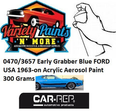 0470/3657 Early Grabber Blue FORD USA 1963-on 2K Direct Gloss Aerosol Paint 300 Grams