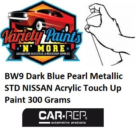 BW9 Dark Blue Pearl Metallic STD NISSAN Acrylic Touch Up Paint 300 Grams