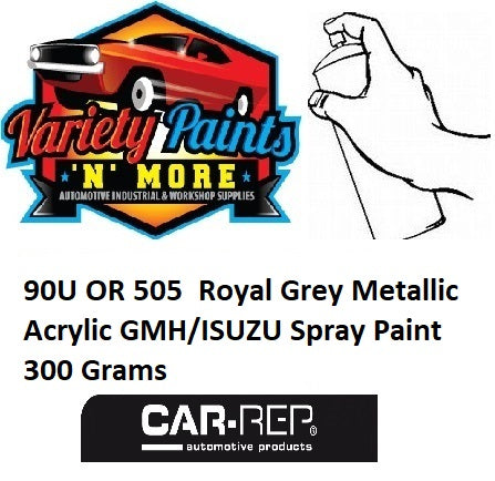 90U OR 505 Royal Grey Metallic Acrylic GMH/ISUZU Spray Paint 300 Grams