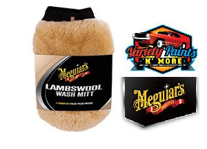 Meguiars Lambswool Wash Mitt with Bug Remover